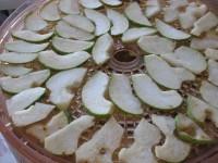 plátky hrušiek na sušenie